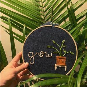•grow• hoop - home decor 🌱